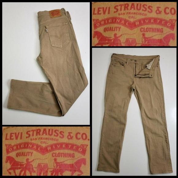 676f0420608 Levi's Pants | Levis 514 Men Slim Fit Flat Front Khaki | Poshmark
